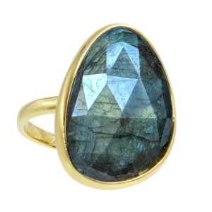 gouden mistische labradorite ring